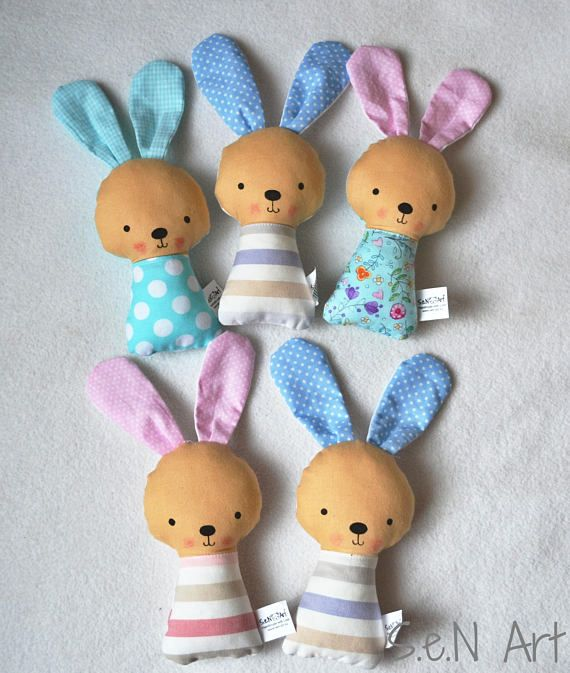 Soft Baby Rattle Bunny fabric Ratlle Bunny Rattle Soft Toy