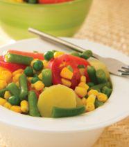 Platón de vegetales cocidos