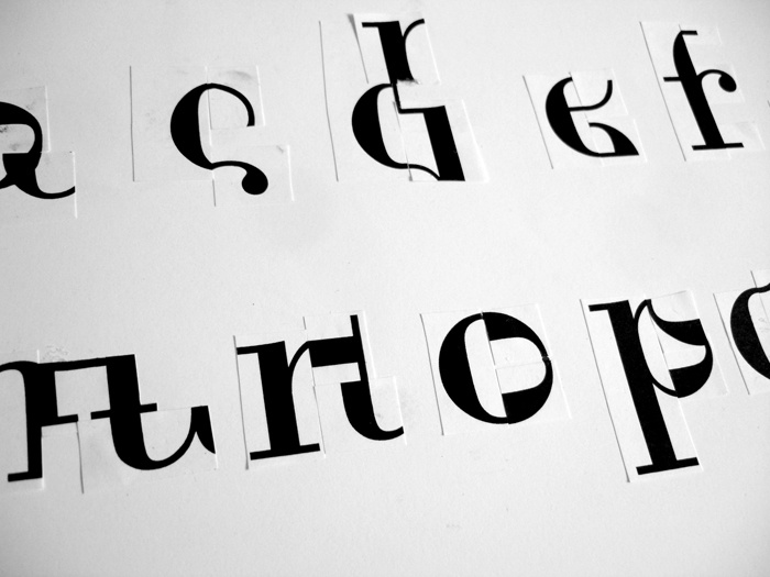 Deconstructed letterforms.
