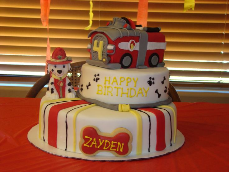 Fire theme cakes on Pinterest Fire Truck Cakes, Paw ...