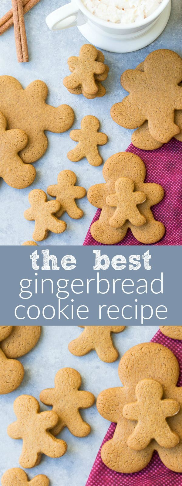 Our FAVORITE gingerbread cookie recipe! Perfectly spiced, soft cookies made with whole wheat flour and less sugar so they're healthier. | http://www.kristineskitchenblog.com