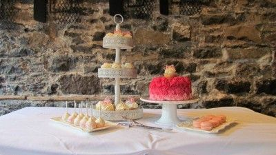 Simple Dessert Table <3 See More Cute Dessert Table Ideas at www.CarlasCakesOnline.com