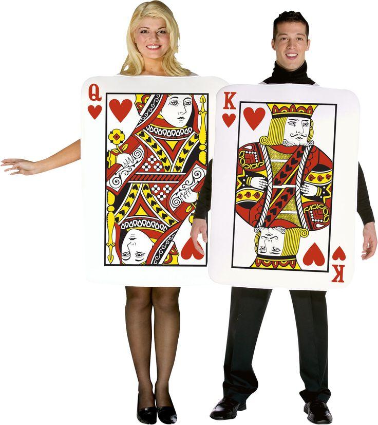 Déguisement de couple Carte roi et reine de coeur - Alice au pays des merveilles