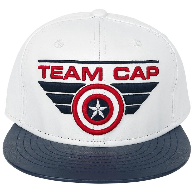 "Cappellino con visiera ""Team Cap"" di #CaptainAmerica Civil War."