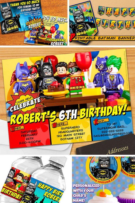 LEGO® Batman Invitations and LEGO® Batman Party by SillyBrickPics