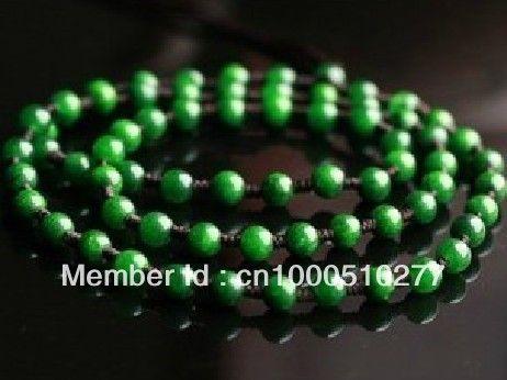 Зеленый нефрит зеленый нефрит Tielong студенты Изумрудное Ожерелье аксессуары цепь нефрита ожерелье веревки