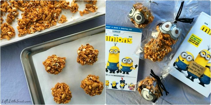 This easy and simple Caramel Popcorn Balls recipe has only 4 ingredients, including homemade Dutch Oven Popcorn! Check out my tutorial on illustrating the treat bags for the Caramel Popcorn Balls like the Minions movie characters! Enjoy these Caramel Popcorn Balls during your #MinionsMovieNight! #MinionsMovieNight #ad #CollectiveBias