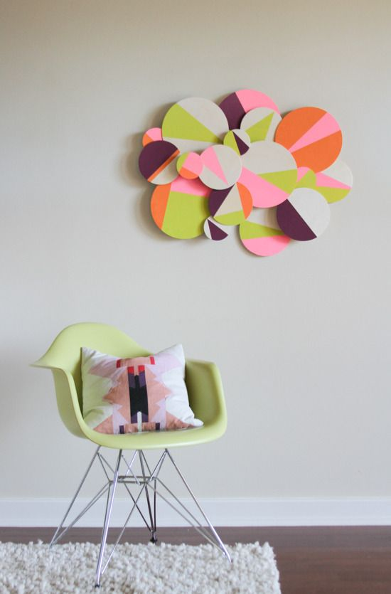 How to: Make DIY Colorful 3D Geometric Wall Art » Curbly | DIY Design Community