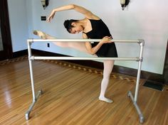 Build your own ballet barre with aluminum pipe and aluminum fittings. This ballet barre looks great and can be broken down for storage.