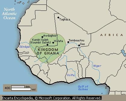 Ghana Empire, not to be confused with modern day Ghana the West African country.
