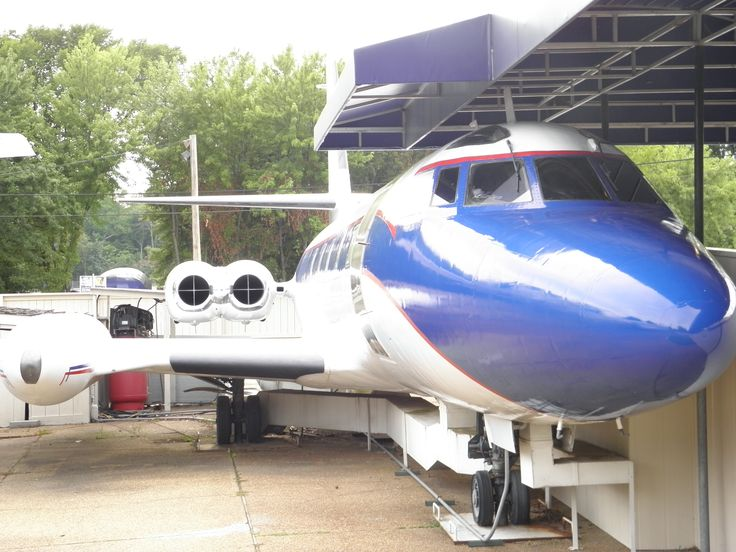 """The """"Hound Dog II"""", Elvis's personal jet @ Graceland, Memphis, Tennessee"""