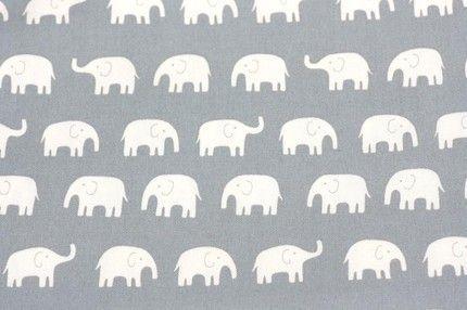 Large  Elephant print Gray background
