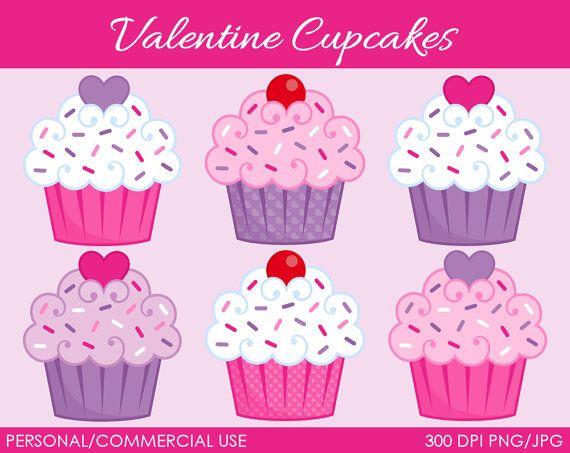 Valentine s Cupcakes Clipart cupcakes Pinterest ...