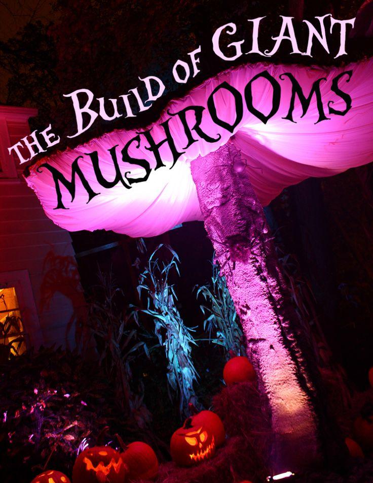 The Build of Giant Mushrooms Alice in Wonderland Props