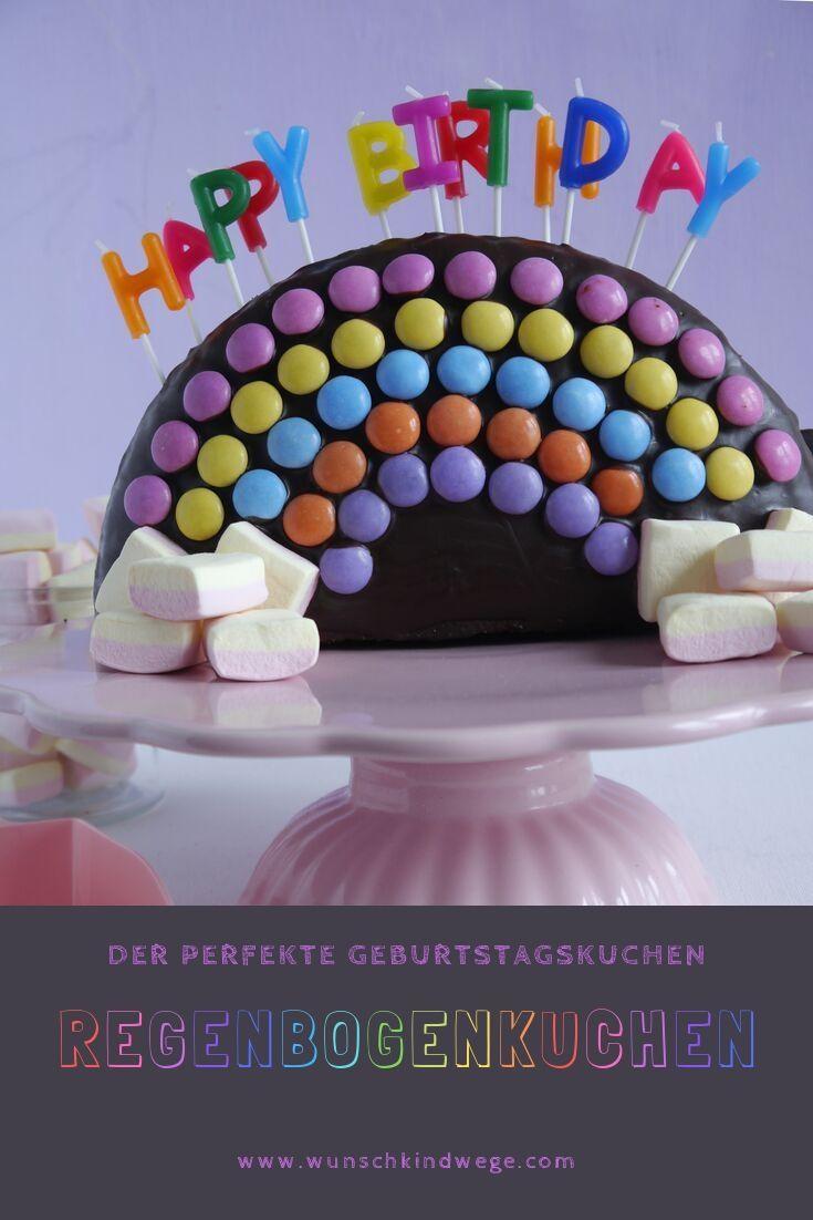 Regenbogenkuchen Mit Sussigkeiten Wunschkindwege Kuchen Kindergeburtstag Kuchen Kindergeburtstag Smarties Regenbogen Kuchen