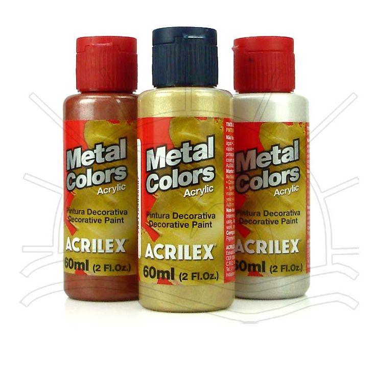 Tinta Acrilica Metal Colors Acrilex 60ml no Bazar Horizonte