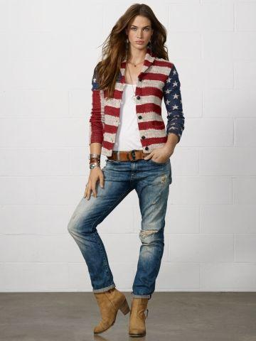 Cardigan drapeau américain - Denim & Supply Cardigans - Ralph Lauren France