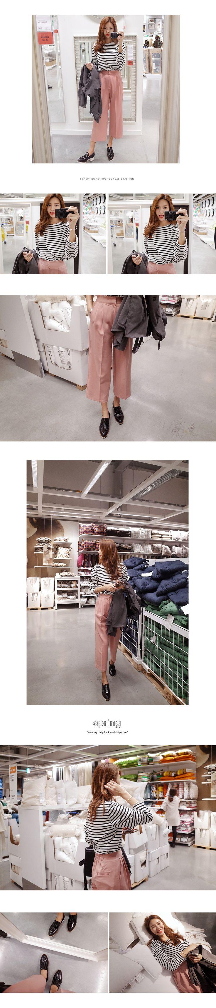 8colorボーダートップス・全8色トップス・カットソーカットソー・Tシャツ レディースファッション通販 DHOLICディーホリック [ファストファッション 水着 ワンピース]