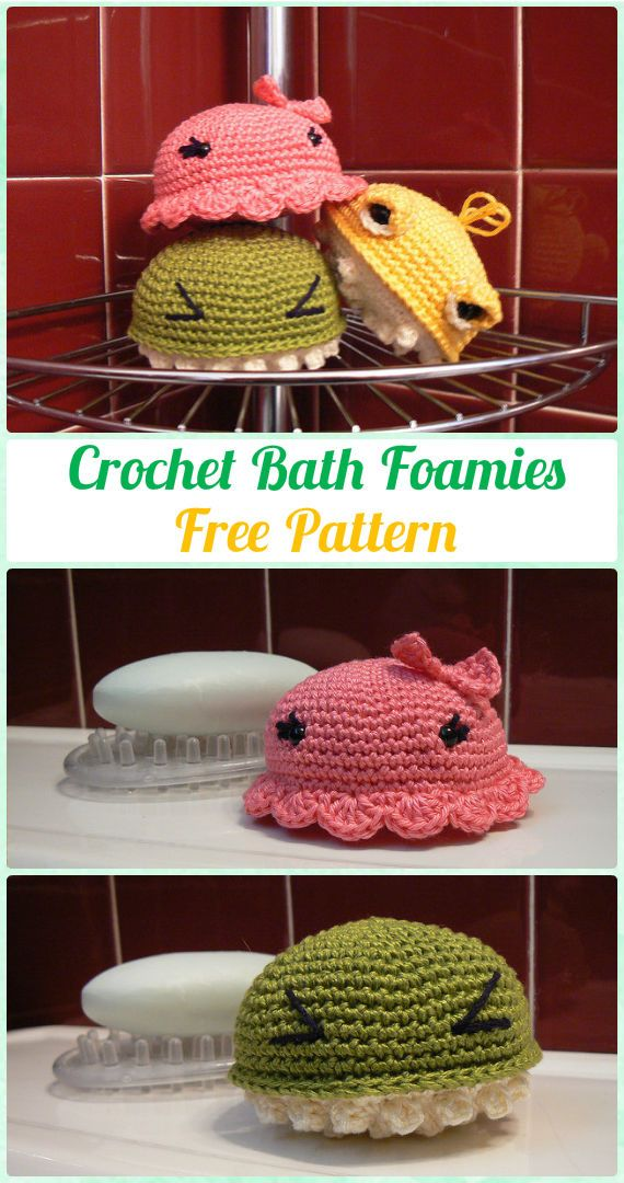 Crochet Bath Foamies Free Pattern - Crochet Spa Gift Ideas Free Patterns