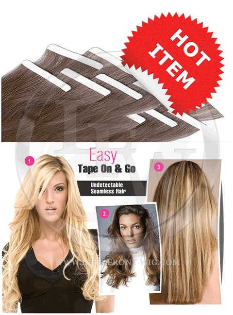 Tape In Remy Human Hair Extensions