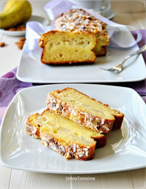 Delicious cake with ricotta and PEAR stuffing - Plumcake goloso con farcia alla ricotta e pere
