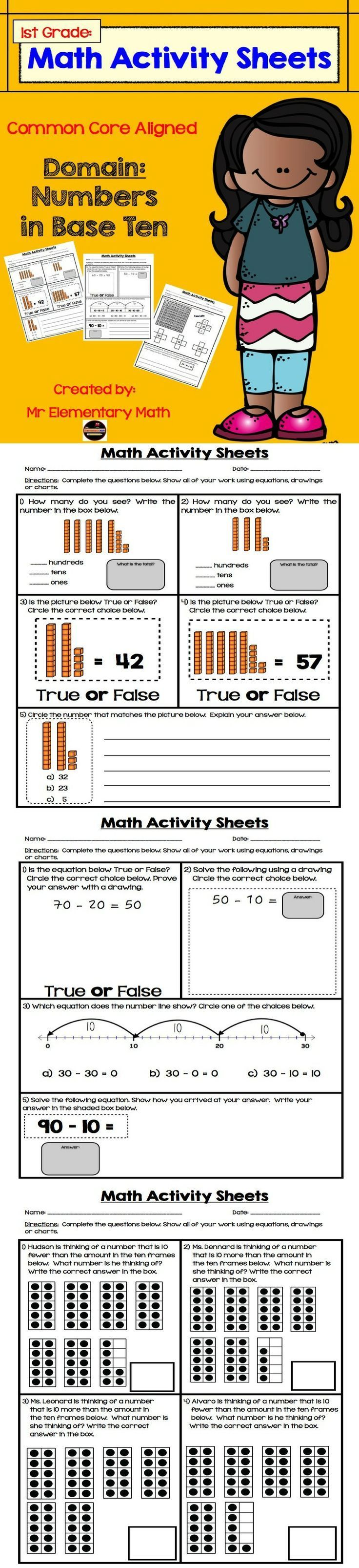 Candid image inside first grade common core standards printable