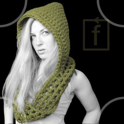 hooded scarf pattern - CROCHET