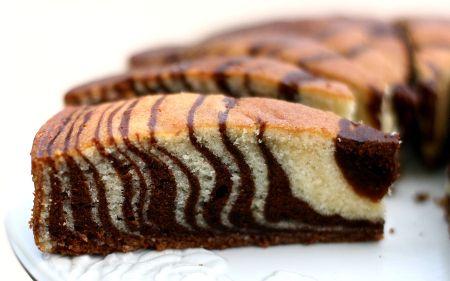 Cómo preparar una torta cebra
