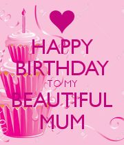 HAPPY BIRTHDAY TO MY BEAUTIFUL MUM - Personalised Poster large