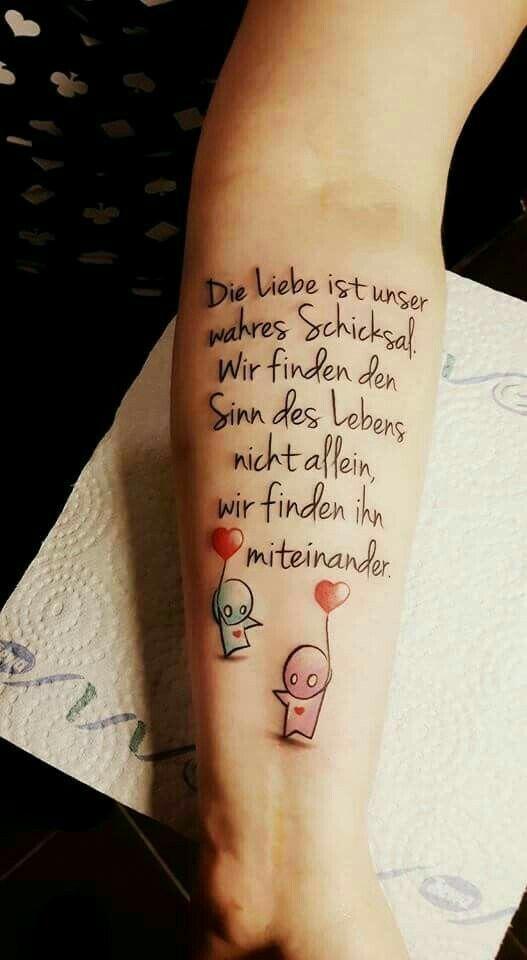 Pin von Kathi Thi auf Love never ends | Tattoo sprüche