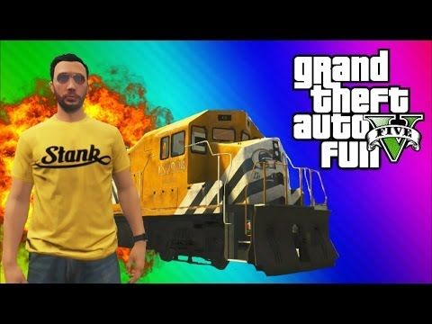 GTA 5 Stopping the Train! (How to Stop the Train, Train Glitch, Online Funny Moments & Fails) - YouTube