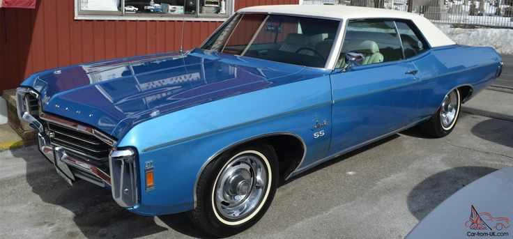Ss Chevrolet 1969 >> 1969 Chevrolet Impala SS-427 in LeMans Blue. This particular model is the Sport Coupe version ...