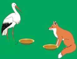 The fox and the stork - moral story for children