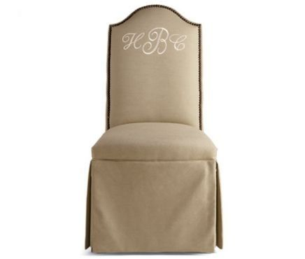 Pierre Deux Monogrammed Dining Chair By Jacklyn