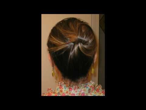 I love this ... really neat if you're looking for a quick up-do :)Hairties, Pin Updo, Rubber Band, Quick Updo, Bobby Pin