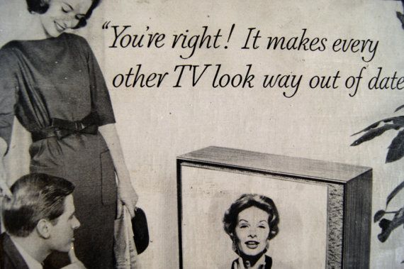 Humorous Vintage TV Ad on Wood / Black & by RevivalVintageATX, $18.00***SOLD