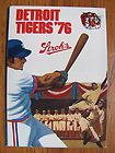 1976 DETROIT TIGERS BASEBALL FOLD OUT SCHEDULE - MINT