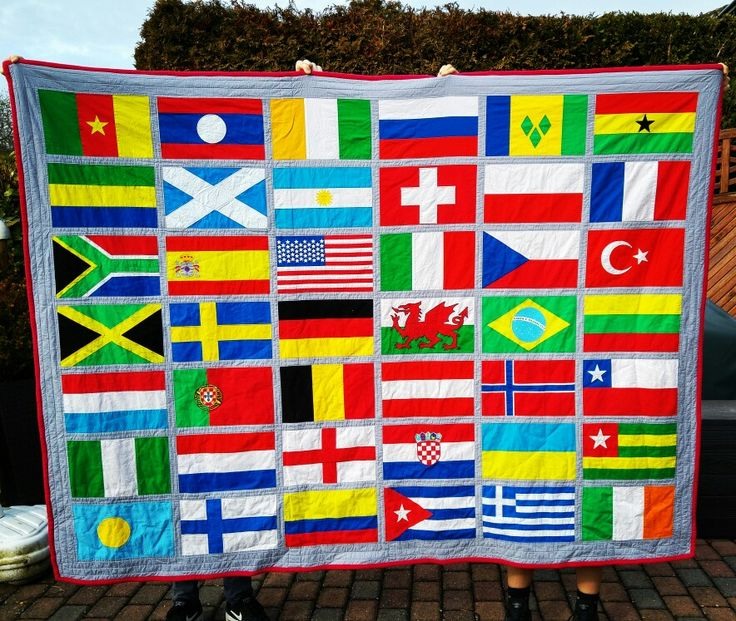 42 flags. Blanket for my son. Design by him, made by me | Sewing and ...
