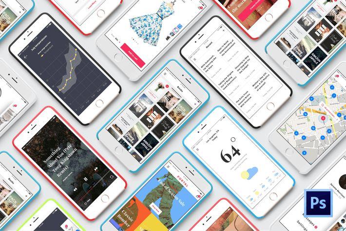 PORTAL UI PACK @1x FOR PHOTOSHOP #app #shop  • Download here → http://1.envato.market/c/97450/298927/4662?u=https://elements.envato.com/portal-M88DG3
