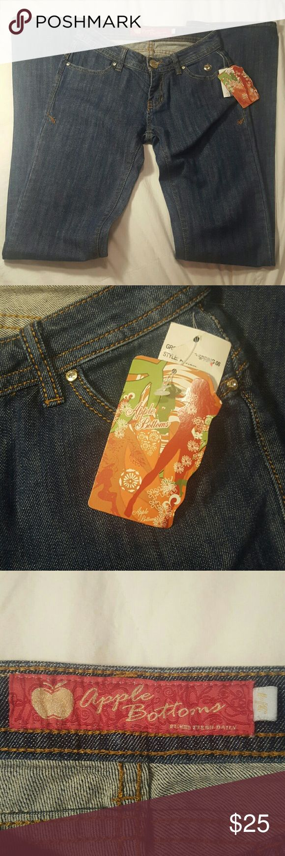Apple Bottom Jeans NWT Super cute Apple Bottoms Original tags, perfect condition. Apple Bottoms Jeans