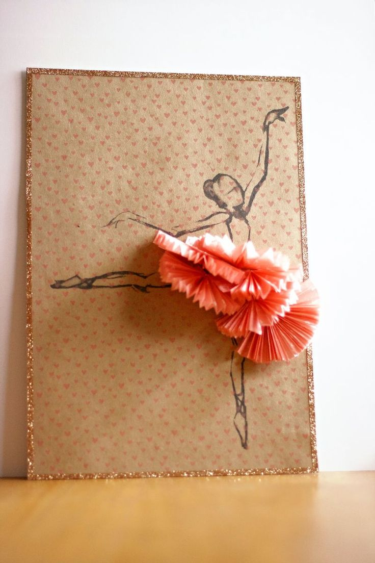 Download the ballerina sketch for free (non commercial use only) and print it out make this wall art piece.