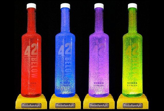 Upcycled 42 Below Vodka Bottle Lamp With by DiamondLiquorLights