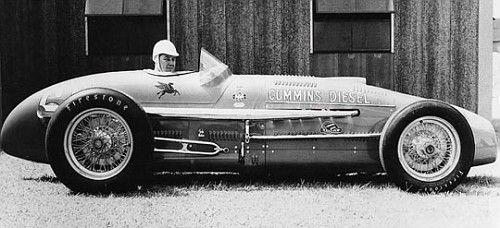 1950 Kurtis Kraft KK3000 (serial # 331, built in 1950) # 61 Cummings Diesel Special Jimmy Jackson driver 29th at Indy