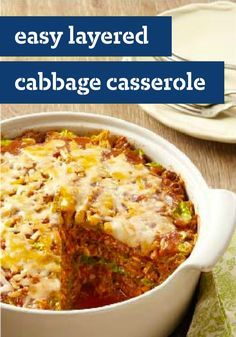 Easy Layered Cabbage Casserole - Casseroles are easy. Stuffing cabbage is hard. In this recipe, you get the full stuffed-cabbage flavor with the ease. (You're welcome!)
