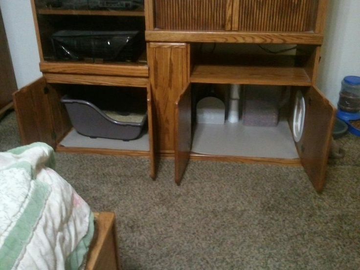 yes i did! my old entertainment center is now our litter boxOld Entertainment Center
