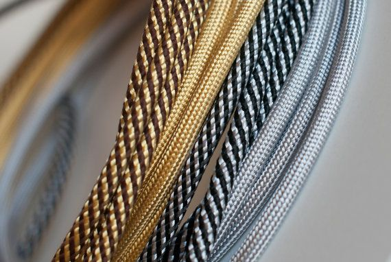 Gold and silver textilcable by tilka on Etsy