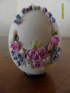 eggs: drop pull and ribbon embroidery on Pinterest | Chicken Eggs ...