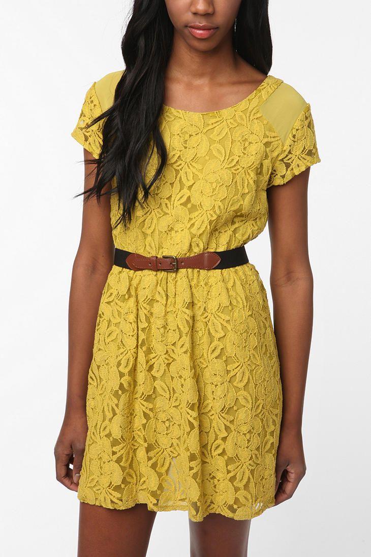 Revelation Dresses, 2014 Urbanoutfitters Com, Clothing, Beautiful, Adorable Yellow, Yellow Lace Dresses, Closets Dreams, Fashion Fun, Dreams Closets