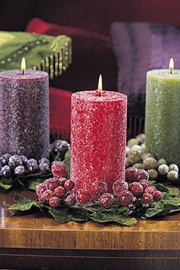Crystallized candles.