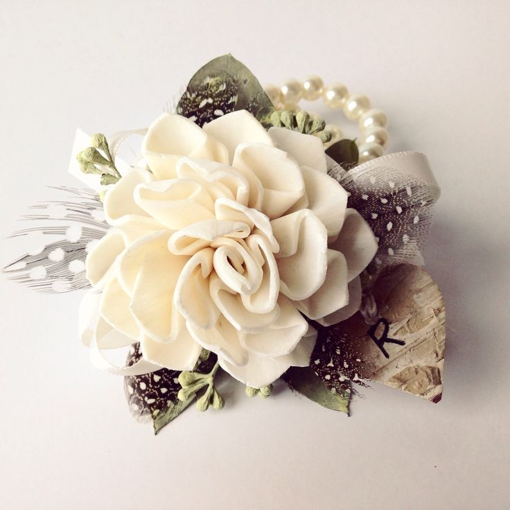 TheBackyardGardener on Etsy wedding corsage - prom wrist corsage